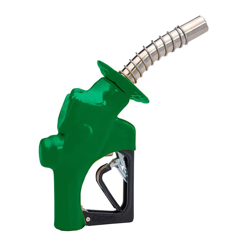 Husky s pressure activated hi flow truck nozzle green