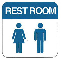 Men And Women Restroom Sign 6 X 6 Allied Electronics