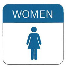 womens restroom sign 6 x 6 allied electronics