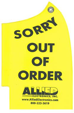 Out Of Order Nozzle Cover Allied Electronics
